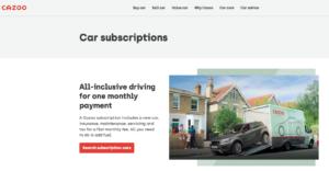Cazoo Car Subscriptions