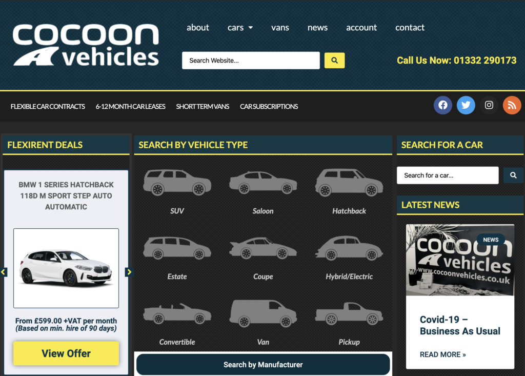 Cocoon Vehicles offer a Car Subscription Service