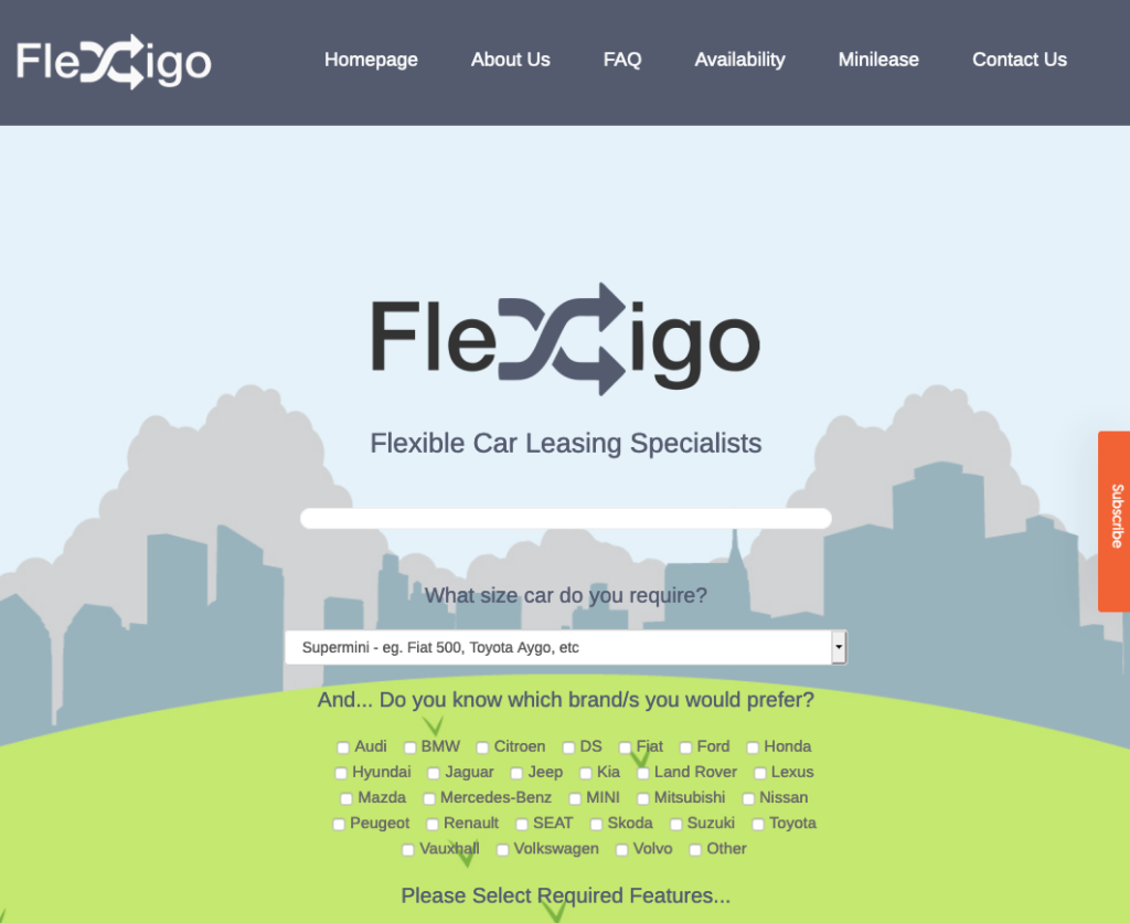 Flexigo Car Subscriptions in the UK