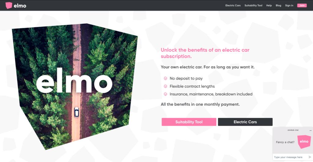 Elmo Electric Car Subscriptions